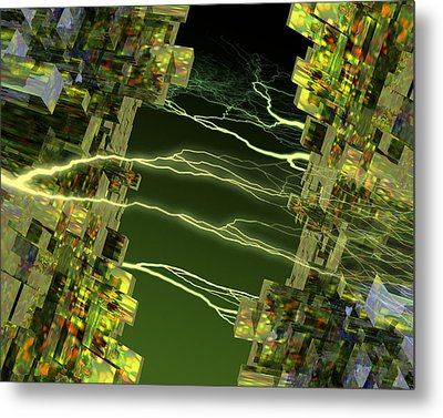 Processor Power Metal Print by Victor Habbick Visions