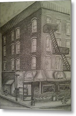 Produce Market In Brooklyn Metal Print by Irving Starr