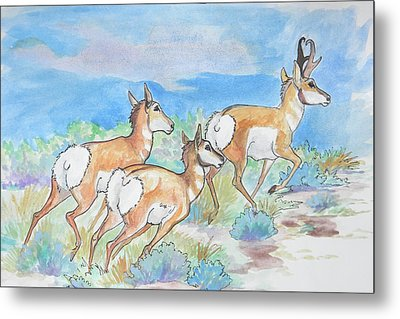 Metal Print featuring the painting Prongs by Jenn Cunningham