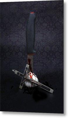 Protection Against Vampires Metal Print by Joana Kruse