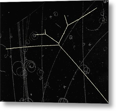 Proton Tracks Metal Print by Lawrence Berkeley National Laboratory
