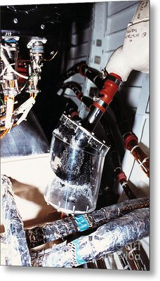 Prototype Airwater Filter On Test Metal Print by NASA / Science Source