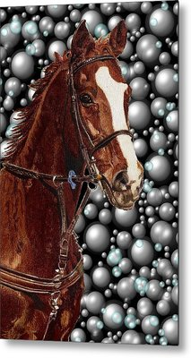 Proud With Bubbles Metal Print by Patricia Barmatz