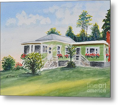 Prout's Neck Cottage Metal Print by Andrea Timm