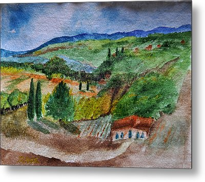 Provence Colors Metal Print