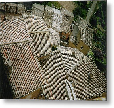 Provence Rooftops Metal Print by Pamela Canzano