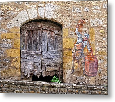 Metal Print featuring the photograph Provence Window And Wall Painting by Dave Mills