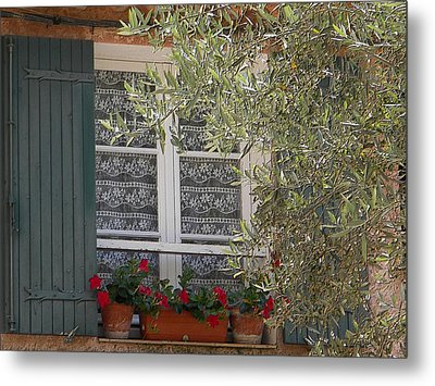 Provensale Window Metal Print by Manuela Constantin