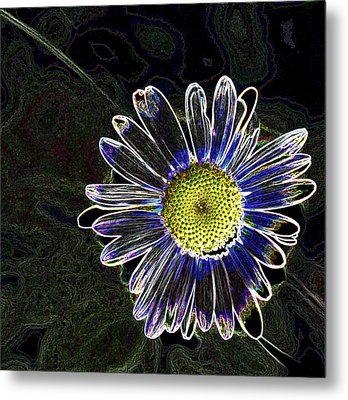 Psychedelic Daisy Metal Print