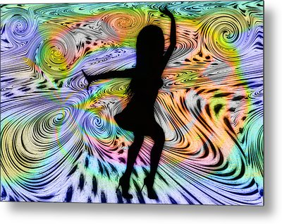 Psychedelic Dancer Metal Print by Bill Cannon