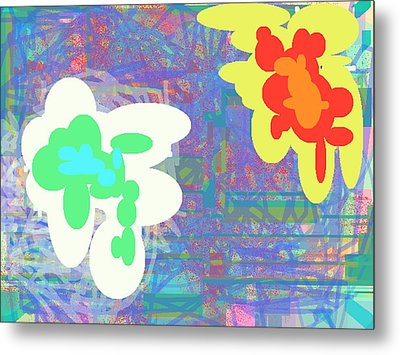 Psychedelic Drips Visit The Water Lilies Metal Print