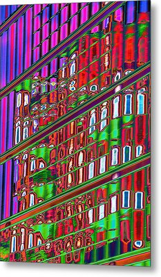 Psychedelic Reflection Of Barcelona 12 Metal Print by Richard Henne