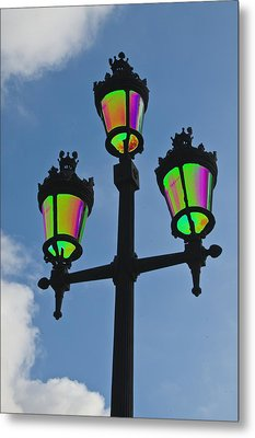 Psychedelic Streetlamps Metal Print by Richard Henne