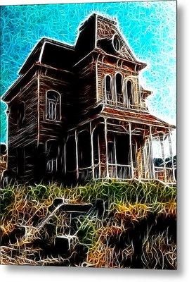 Psycho House Metal Print by Paul Van Scott