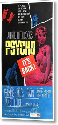 Psycho, Top Left Anthony Perkins Top Metal Print by Everett