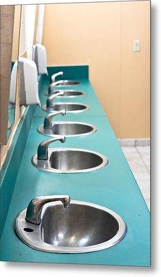 Public Restroom Metal Print by Tom Gowanlock