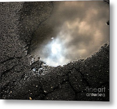 Puddle Art 7 Metal Print by Dale   Ford