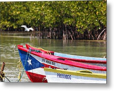 Puerto Rican Fishing Boats Metal Print