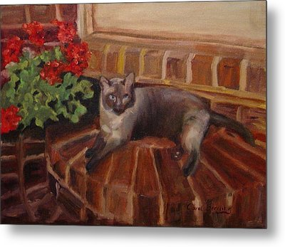 Metal Print featuring the painting Puff by Carol Berning
