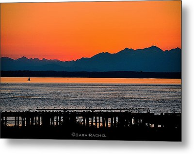 Puget Sound Sunset Metal Print by Sarai Rachel