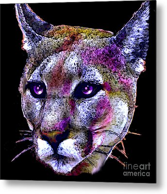 Puma Portrait Metal Print