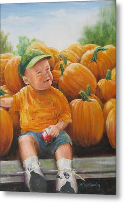 Pumkin Boy Metal Print by Oz Freedgood