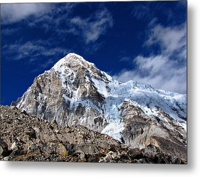 Pumori-everest Base Camp Trek-nepal Metal Print by Copyright Michael Mellinger