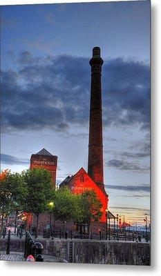 Pump House Liverpool Metal Print by Barry R Jones Jr