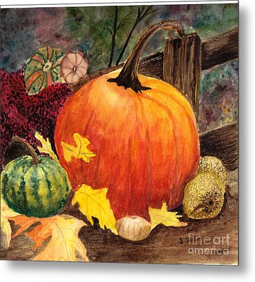 Pumpkin And Gourds Metal Print by John Small