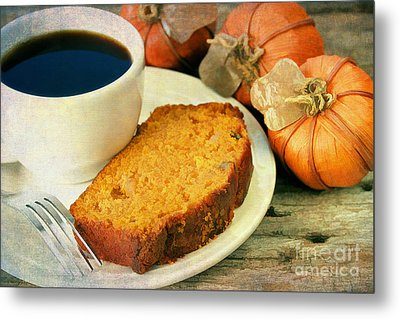 Pumpkin Bread And Coffee Metal Print by Darren Fisher
