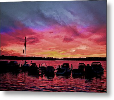 Punta Gorda Sunset Metal Print by Sandy Poore