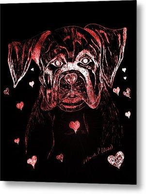 Puppy Love Metal Print by Maria Urso