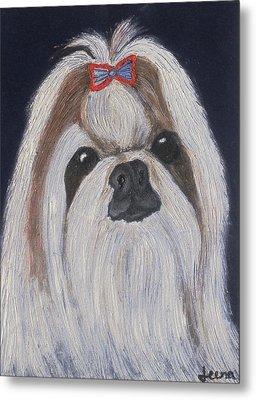 Puppy - Nib Painting Metal Print by Rejeena Niaz