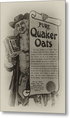Pure Quaker Oates Metal Print by Bill Cannon
