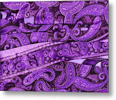 Purple Crossroads With Curves Metal Print by Anne-Elizabeth Whiteway