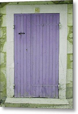 Purple Door Number 46 Metal Print by Georgia Fowler