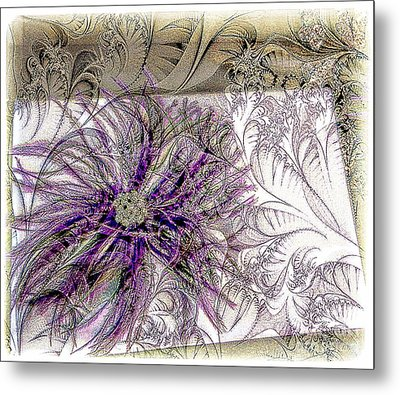 Purple Plume Metal Print by Michelle Frizzell-Thompson