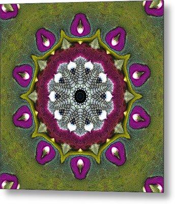 Metal Print featuring the digital art Purple Snakeskin Flower by Alec Drake
