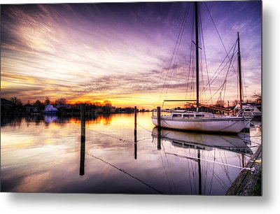 Purple Sunrise Metal Print by Vicki Jauron