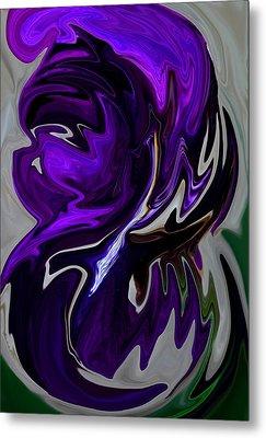 Metal Print featuring the digital art Purple Swirl by Karen Harrison
