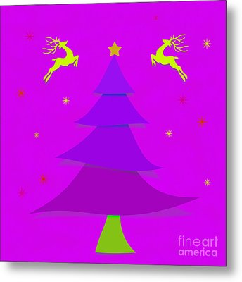 Purple X'mas Metal Print