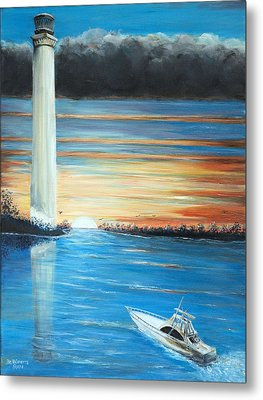 Put-in-bay Perry's Monument - International Peace Memorial  Metal Print by Bernadette Krupa