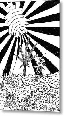 Pyramid Metal Print by Andrew Padula