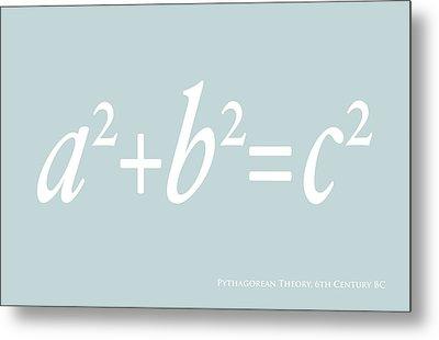 Pythagoras Maths Equation Metal Print by Michael Tompsett