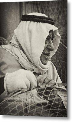 Qatari Fish-trap Maker Metal Print by Paul Cowan