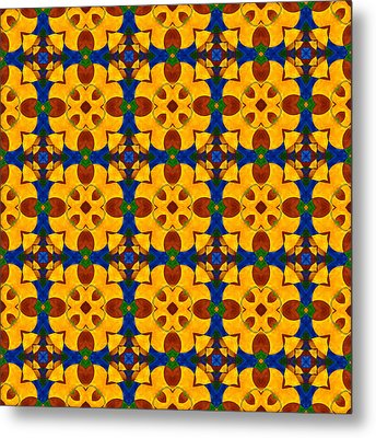 Quadrichrome 13 Symmetry Metal Print by Hakon Soreide