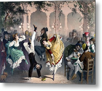 Quadrille At The Bal Bullier Metal Print by G Barry