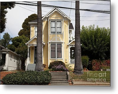 Quaint House Architecture - Benicia California - 5d18591 Metal Print by Wingsdomain Art and Photography