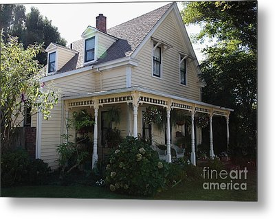 Quaint House Architecture - Benicia California - 5d18793 Metal Print by Wingsdomain Art and Photography