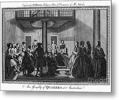 Quaker Meeting, C1790 Metal Print by Granger